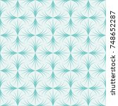 vector floral art nouveau... | Shutterstock .eps vector #748652287