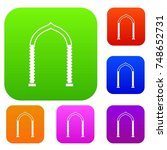 arch set icon in different... | Shutterstock . vector #748652731