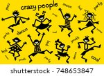 dancing people  beach party | Shutterstock .eps vector #748653847