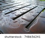Water Drops On Wooden Furniture ...