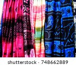 colorful beach wear in sri... | Shutterstock . vector #748662889