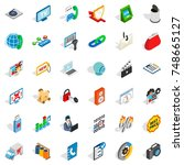 www management icons set.... | Shutterstock . vector #748665127