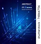 vector circuit board | Shutterstock .eps vector #74866756