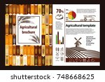 agricultural brochure layout...   Shutterstock .eps vector #748668625