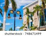 scenic fifth avenue cityscape... | Shutterstock . vector #748671499