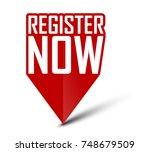 banner register now | Shutterstock .eps vector #748679509