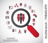 human resources   conceptual... | Shutterstock .eps vector #748681495