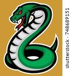 cobra snake stock   Shutterstock .eps vector #748689151