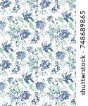 floral seamless pattern | Shutterstock . vector #748689865