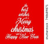 the best wishes for merry... | Shutterstock .eps vector #748689871