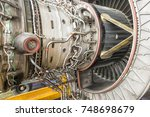 detailed exposure of a turbo... | Shutterstock . vector #748698679