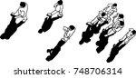 vector art drawing of people... | Shutterstock .eps vector #748706314
