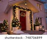 3d rendering. christmas... | Shutterstock . vector #748706899