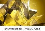 polygonal gold mosaic...   Shutterstock . vector #748707265