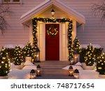 3d rendering. christmas... | Shutterstock . vector #748717654