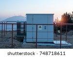 outdoor plastic electrical... | Shutterstock . vector #748718611