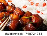 vietnamese food  caramelized... | Shutterstock . vector #748724755