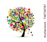 Abstract Colorful Tree For Your ...