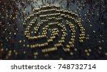 fingerprint sign made of... | Shutterstock . vector #748732714
