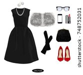 fashion concept. stylish and... | Shutterstock .eps vector #748752031