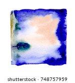watercolor blotch | Shutterstock . vector #748757959