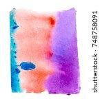 watercolor blotch | Shutterstock . vector #748758091