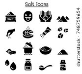salt icon set vector... | Shutterstock .eps vector #748759654