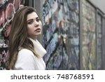 street fashion concept.... | Shutterstock . vector #748768591