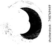 grunge black and white circle... | Shutterstock .eps vector #748769449
