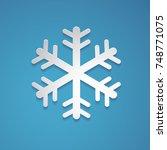 Snowflake Vector In Paper Art...