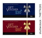 gift certificate  voucher  gift ... | Shutterstock .eps vector #748776181
