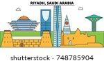 riyadh  saudi arabia outline... | Shutterstock .eps vector #748785904