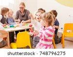 interesting lesson modeling | Shutterstock . vector #748796275