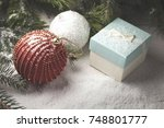 christmas decorative elements... | Shutterstock . vector #748801777