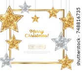 merry christmas and happy new... | Shutterstock .eps vector #748816735