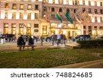 new york city   september 28 ...   Shutterstock . vector #748824685