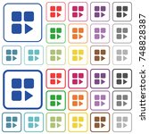 component play color flat icons ... | Shutterstock .eps vector #748828387
