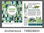 agricultural brochure layout... | Shutterstock .eps vector #748828834