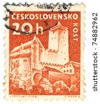 czechoslovakia   circa 1960  a... | Shutterstock . vector #74882962