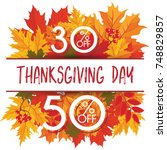 template for thanksgiving day... | Shutterstock .eps vector #748829857
