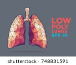 illustration of human lungs... | Shutterstock .eps vector #748831591