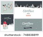 christmas winter landscape... | Shutterstock .eps vector #748838899