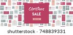 christmas sale banner.... | Shutterstock .eps vector #748839331
