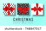 merry christmas and happy new... | Shutterstock .eps vector #748847017
