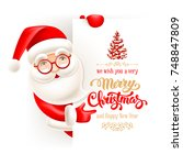 cheerful cartoon santa claus... | Shutterstock .eps vector #748847809