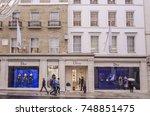 london  november  2017  london  ... | Shutterstock . vector #748851475