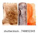 watercolor blotch | Shutterstock . vector #748852345
