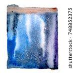 watercolor blotch | Shutterstock . vector #748852375