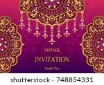 wedding invitation card... | Shutterstock .eps vector #748854331