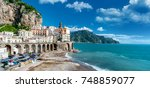 the amalfi coast in italy | Shutterstock . vector #748859077